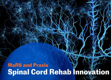 The award recipients of the first-ever Spinal Cord Rehab Innovation Challenge, held in partnership between Praxis Spinal Cord Institute and MaRS Discovery District