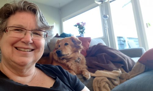 Diana Tindall and Kayla at home in Vancouver, BC.