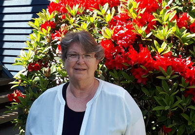 Diana Tindall in her Vancouver garden